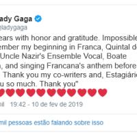 Grammy 2019: Lady Gaga vence em 3 categorias e relembra início da carreira em Franca